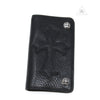 Chrome Hearts 1 Zip Wallet with Cemetery Cross Leather Patch
