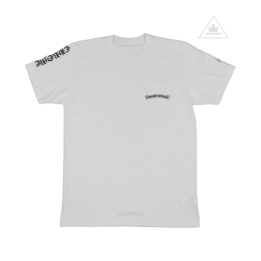 Chrome Hearts White Cemetery Cross T Shirt White