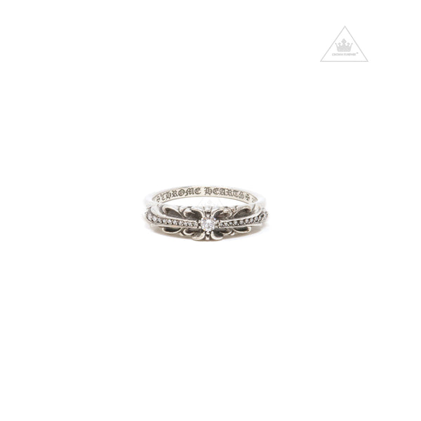 Chrome Hearts Baby Classic Floral Cross Diamond Ring