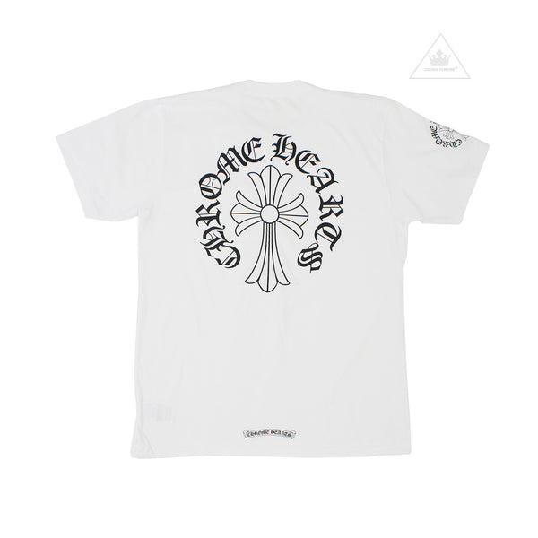 Chrome Hearts Script Cross Tee in White