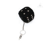 Chrome Hearts Fuzzy Dice Shearing Keyring in Black