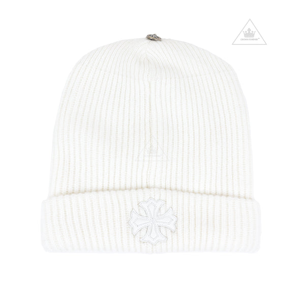 Chrome Hearts Little White Beanie in Cashmere