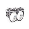Chrome Hearts Plus Brass Knuckles Double Ring