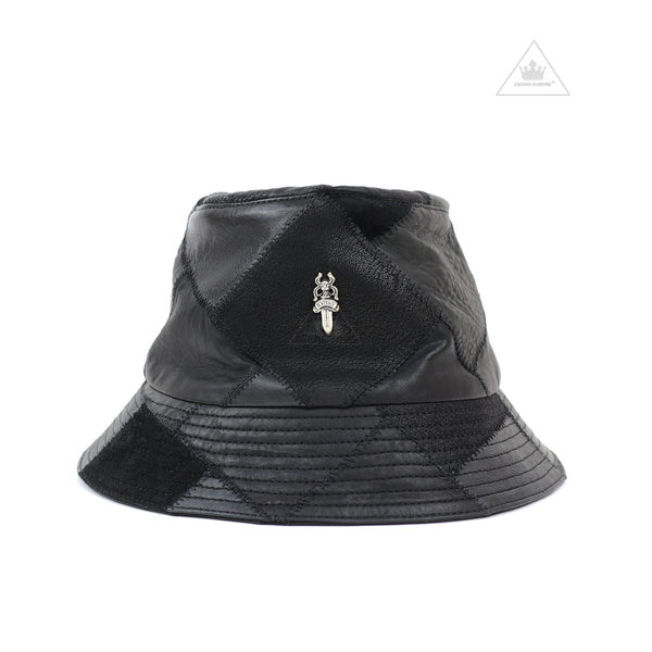 Chrome Hearts U Chum Leather Bucket Hat