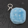 Chrome Hearts Fuzzy Dice Keyring in Turquoise