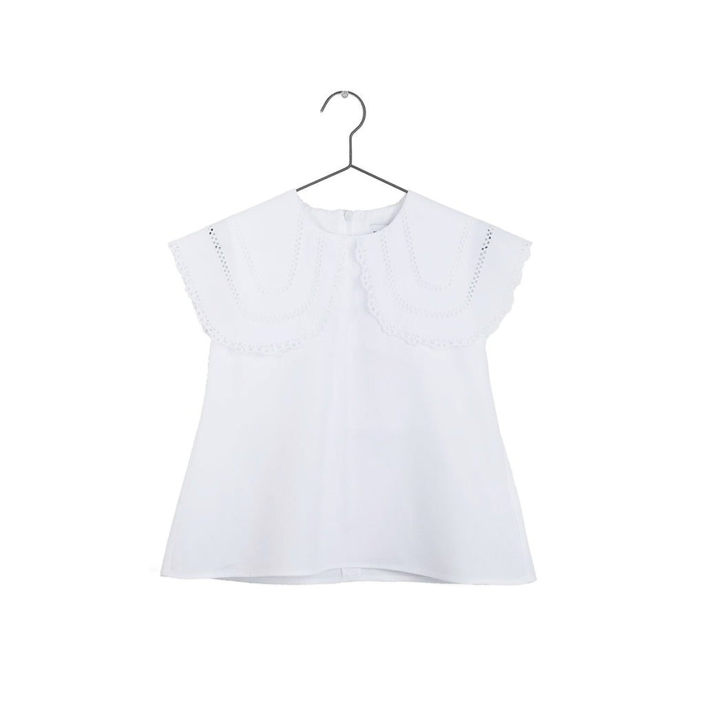 Wolf and Rita Girl Clarissa White Sleeveless Blouse