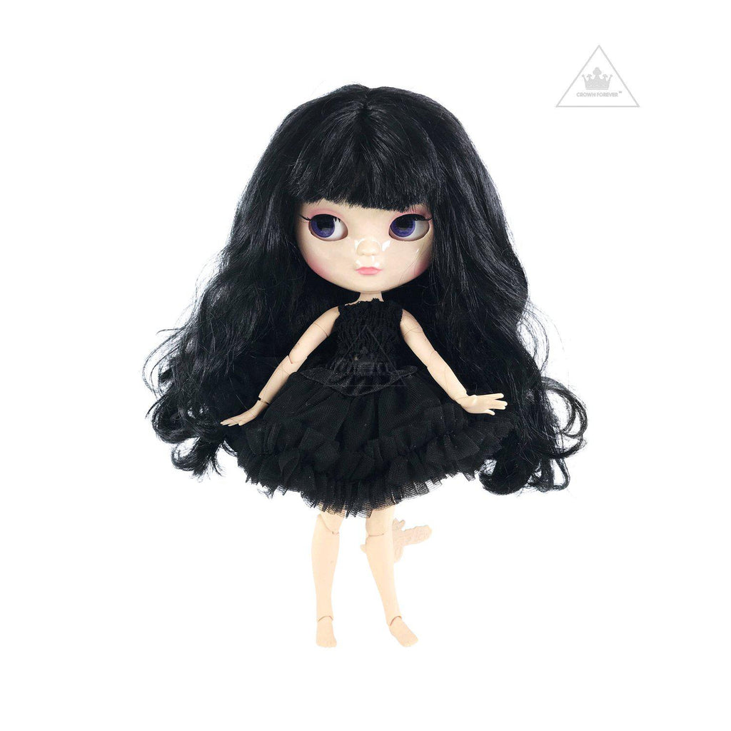 DOLLY by Le Petit Tom ANGELA DOLL ICY DOLL BLACK INCL. DOLLY FASHION & DOLL CARRIER BAG
