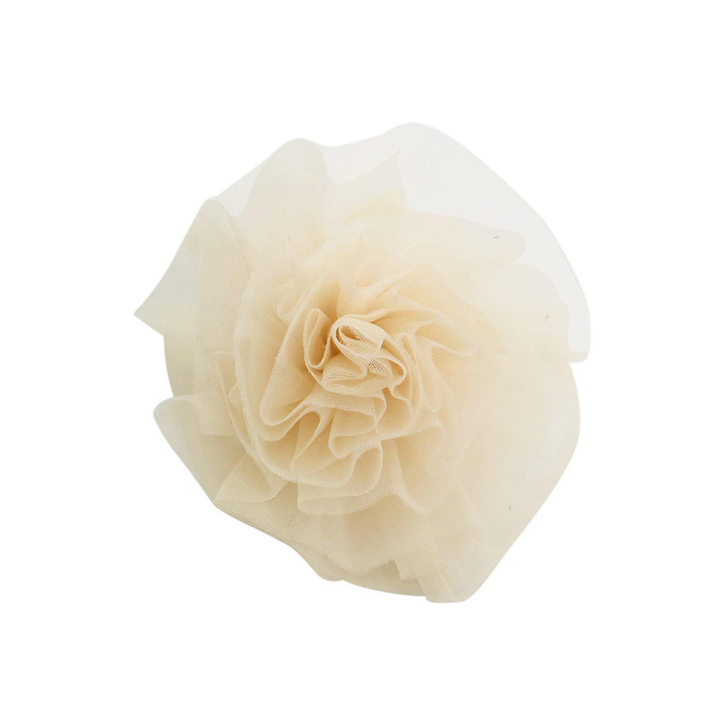 DOLLY by Le Petit Tom BEACH BALLERINA HAIR ROSETTE/ BROACH cream