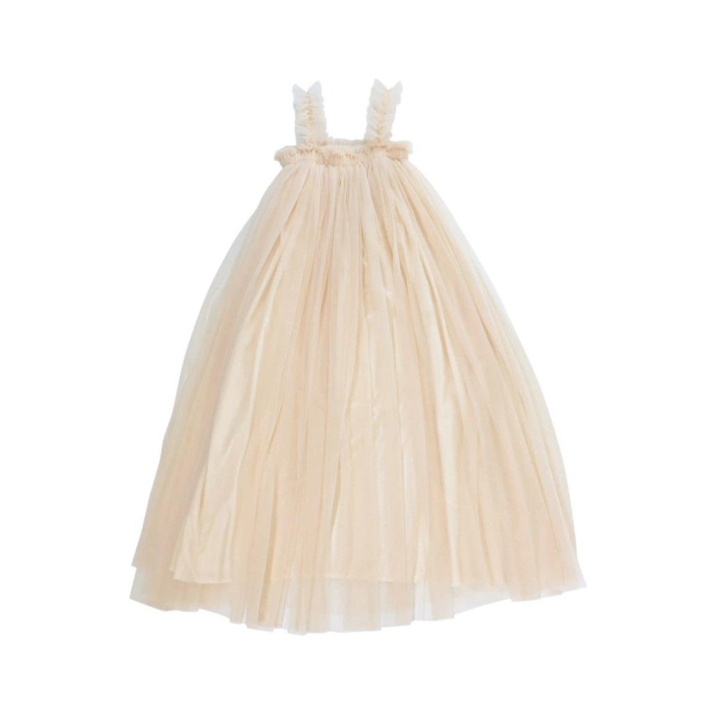 DOLLY by Le Petit Tom MAXI TUTU DRESS BEACH COVER UP cream