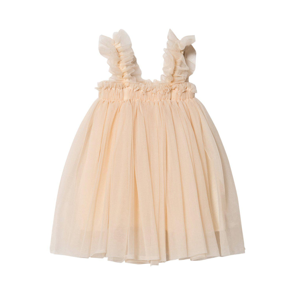 DOLLY by Le Petit Tom TUTU DRESS BEACH COVER UP cream