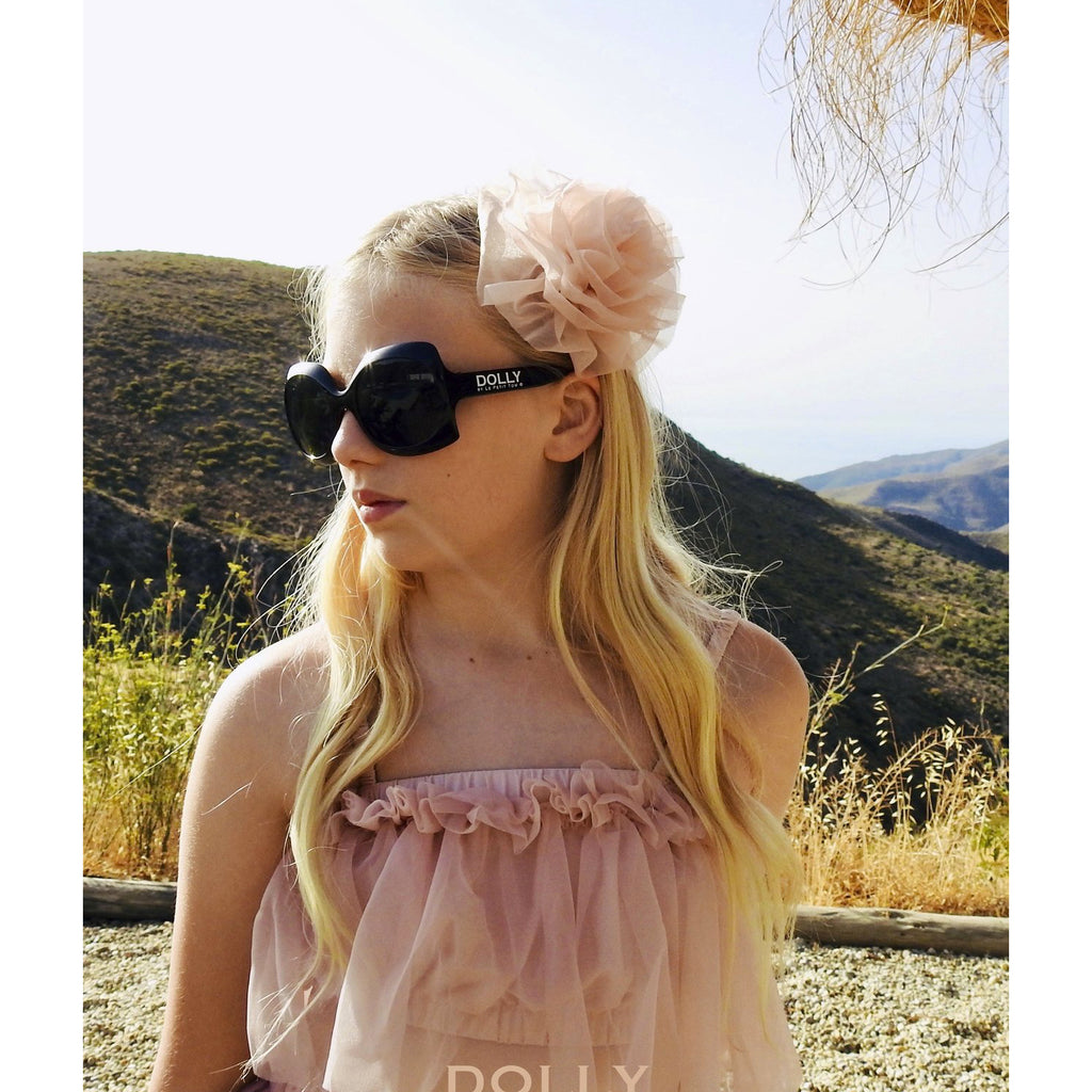 DOLLY by Le Petit Tom BEACH BALLERINA HAIR ROSETTE/ BROACH pink