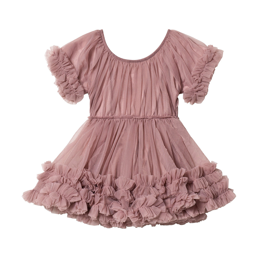 DOLLY by Le Petit Tom FRILLY DRESS mauve