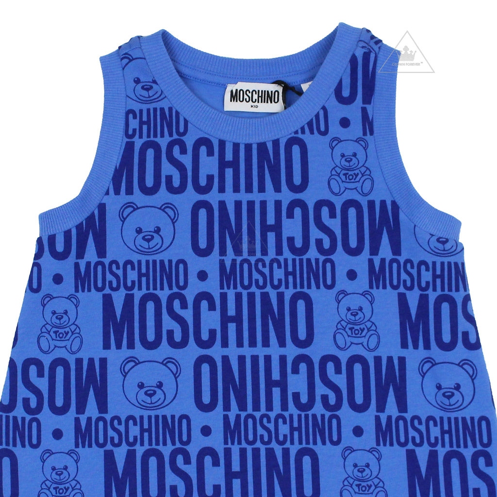 Moschino Kids Teddy Bear All Over Print Dress