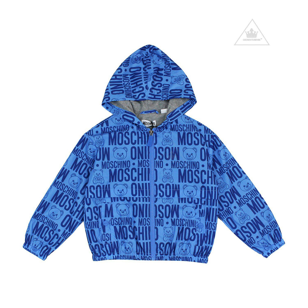 Moschino Kids Teddy Bear All Over Print Jacket