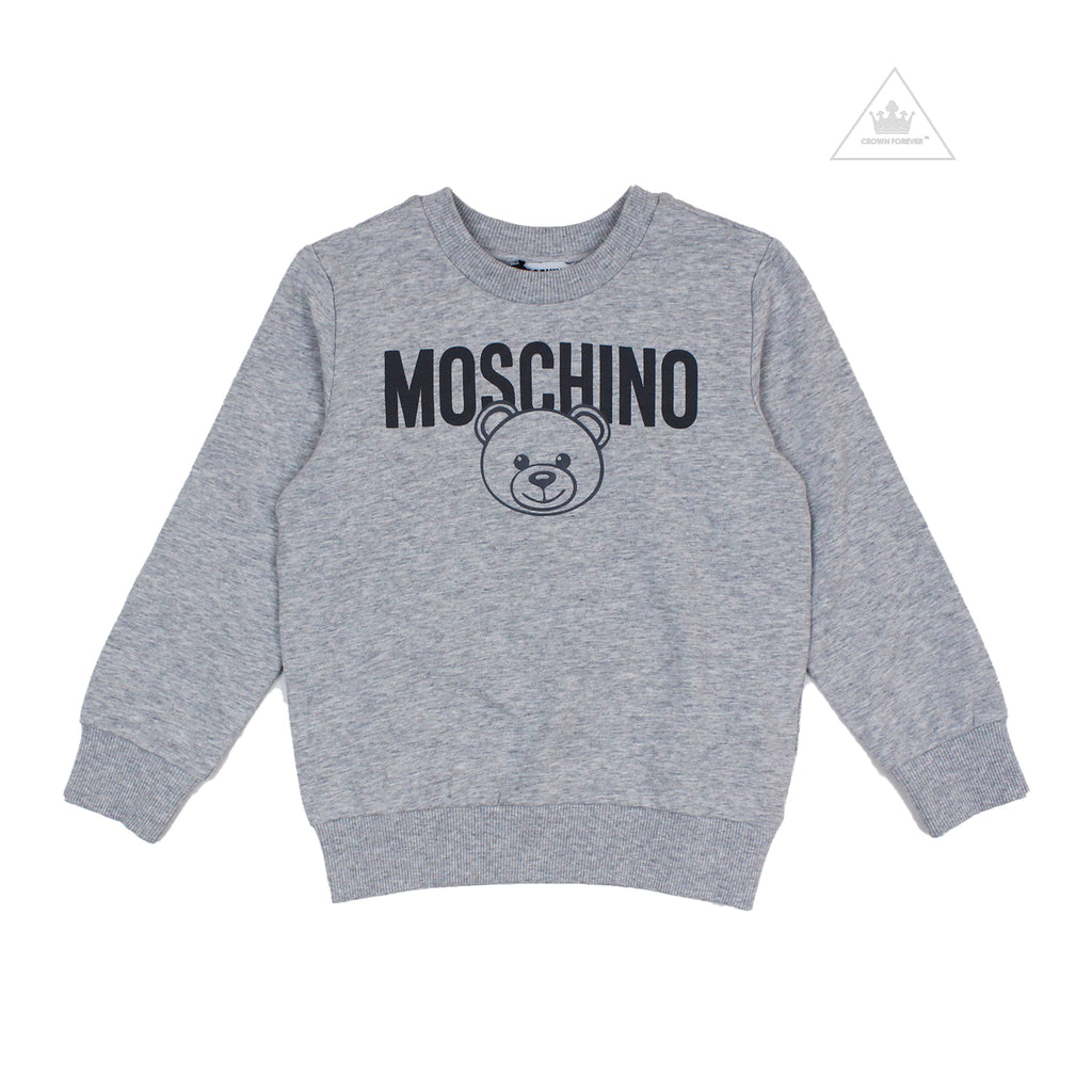 Moschino Kids Teddy Bear Sweatshirt Grey