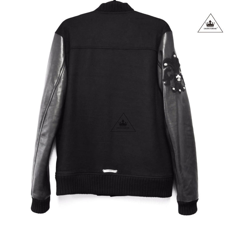 The Chrome Hearts Leather Letterman Jacket