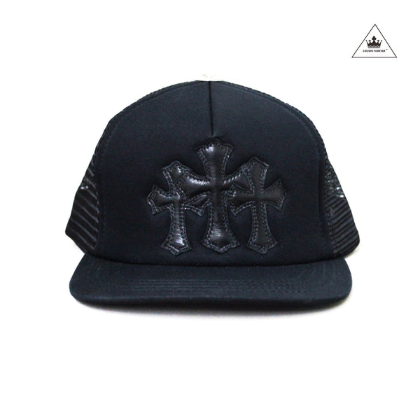 Chrome Hearts Cemetery Cross Trucker Cap