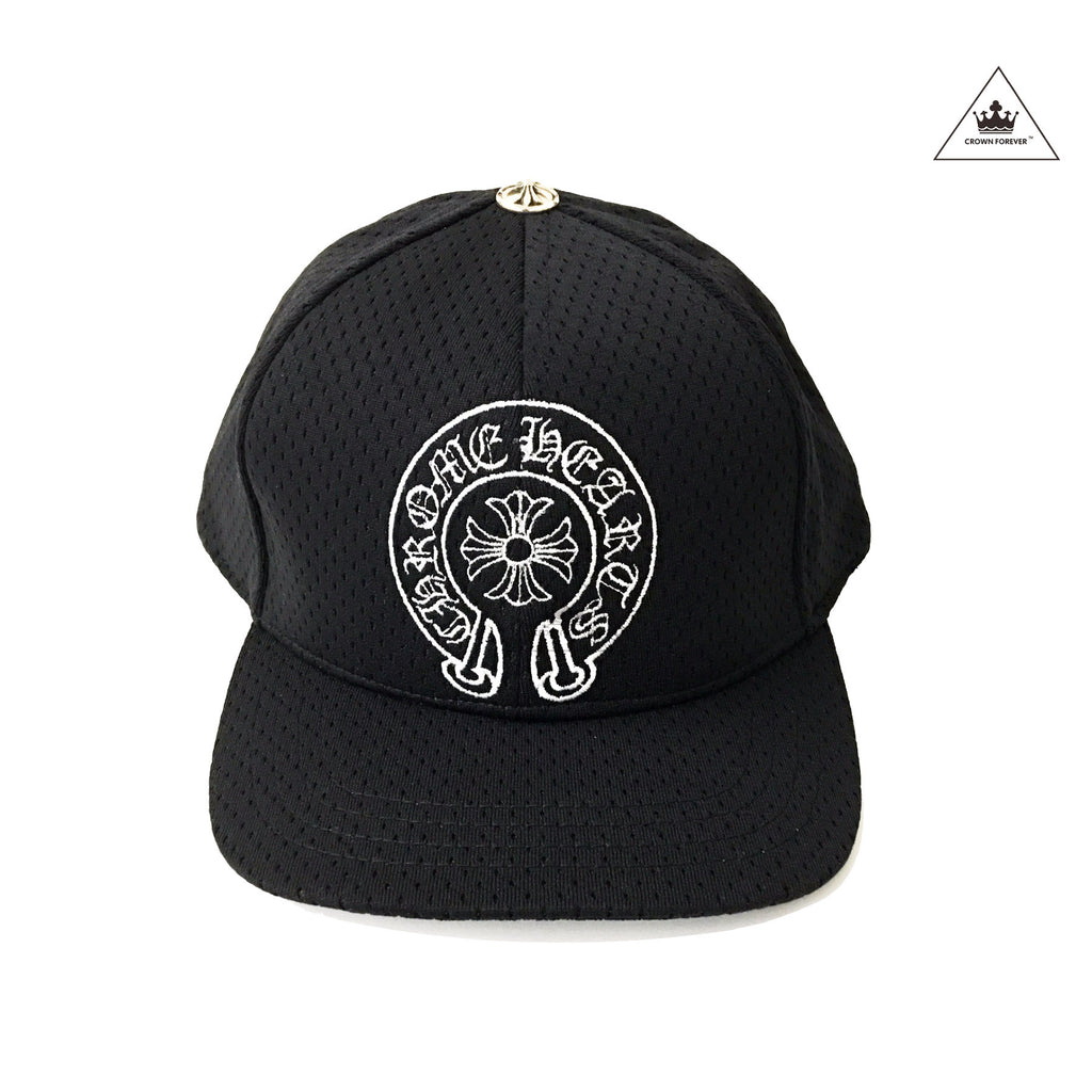 CH Horseshoe And Cross Black Perforated Cap