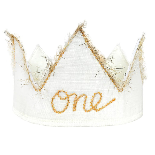 Oh Baby! One Birthday Crown - Sparkle Golden