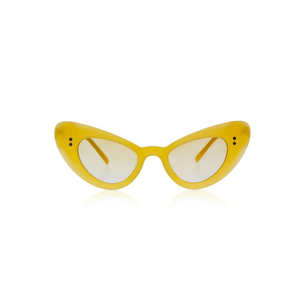 Sons + Daughters Eyewear Josie Mango Yellow Sunglasses