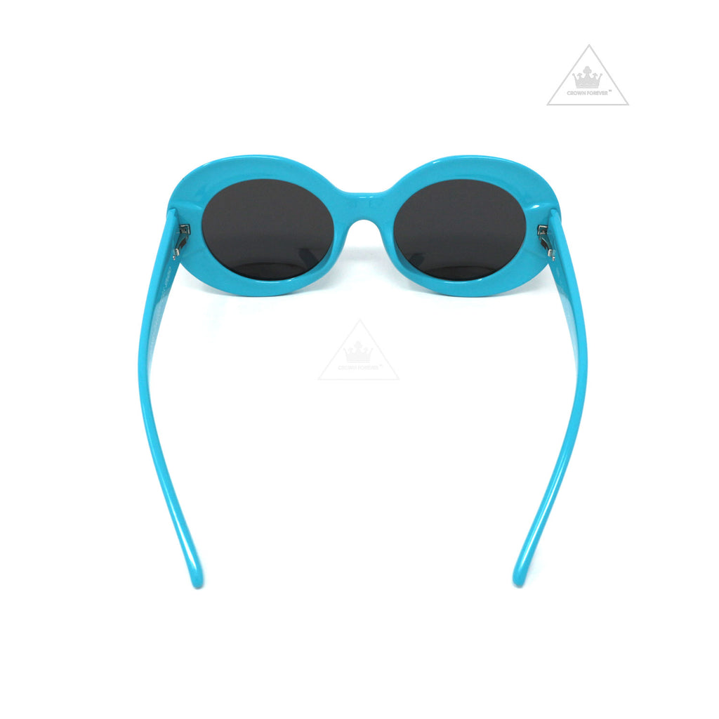 Sons + Daughters Eyewear Kurt Cyan Blue w/Mirror Sunglasses