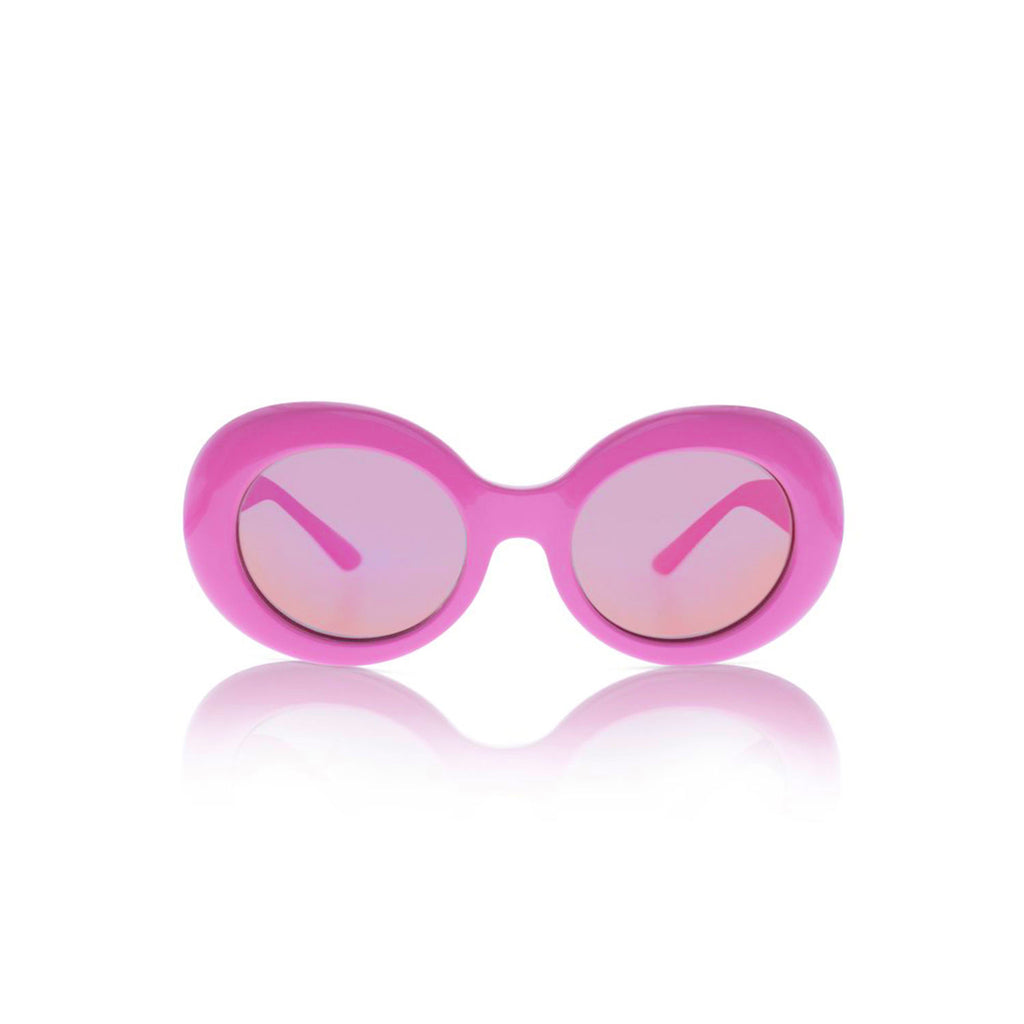 Sons + Daughters Eyewear Kurt Hot Pink w/Mirror Sunglasses