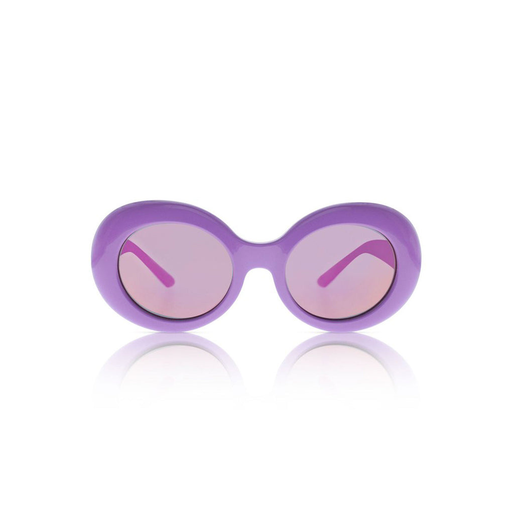 Sons + Daughters Eyewear Kurt Syrup Purple w/Mirror Sunglasses