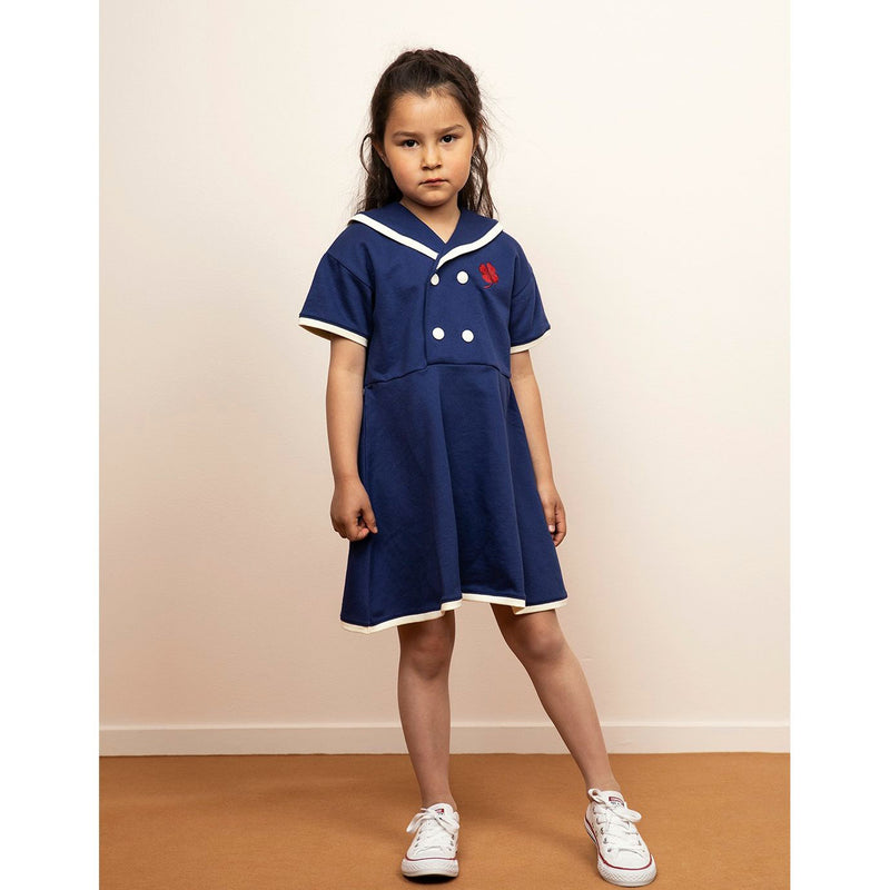 Mini Rodini Sailor Dress Navy
