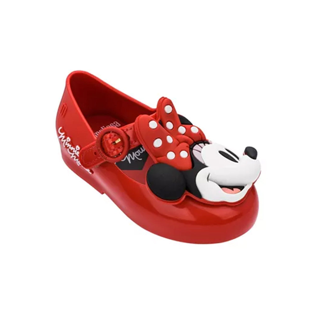 Mini Melissa x Disney Minnie Mouse Mary Jane Flat Red
