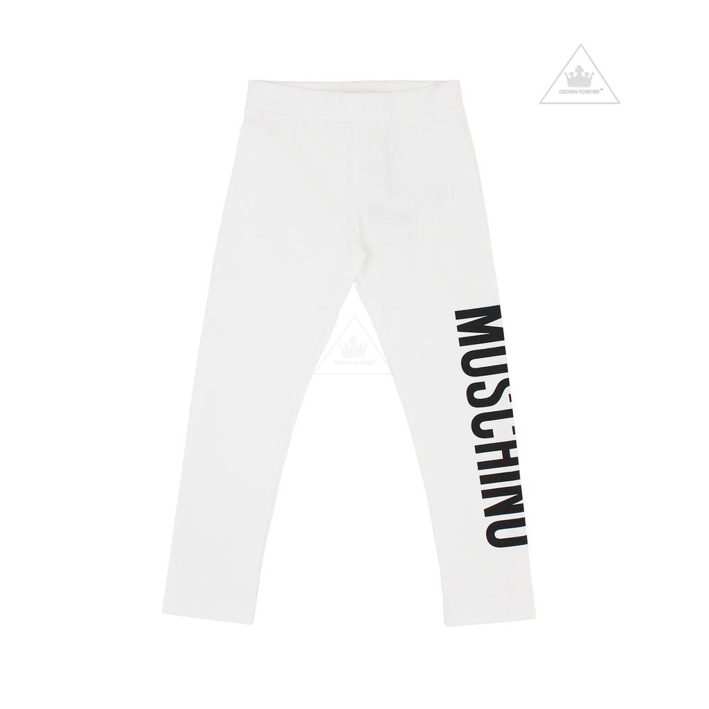 Moschino Kids Girls Long Leggings White