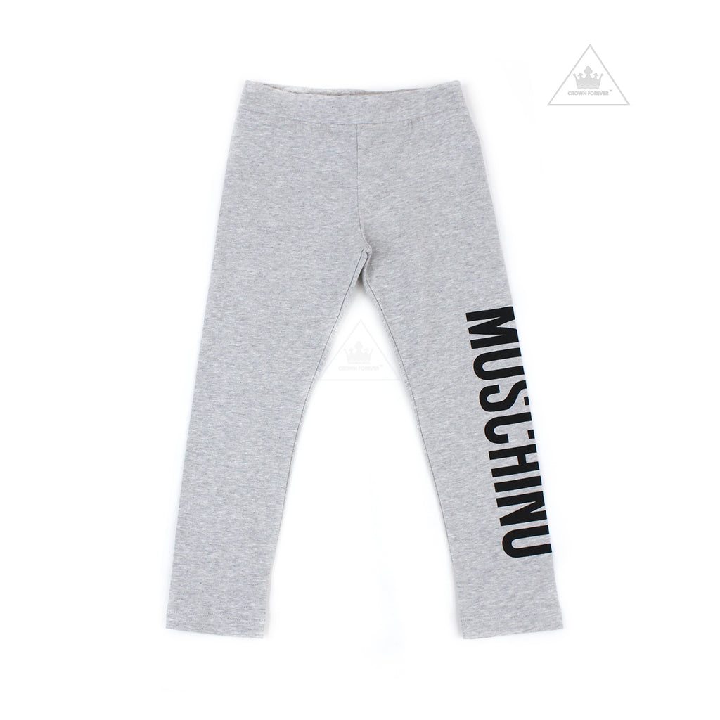 Moschino Kids Girls Long Leggings Grey