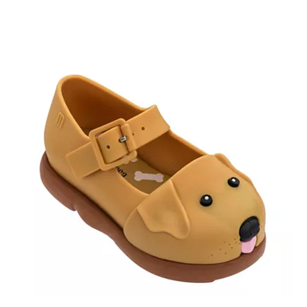 Mini Melissa Mini Play Step Puppy Mary Jane Brown Caramel