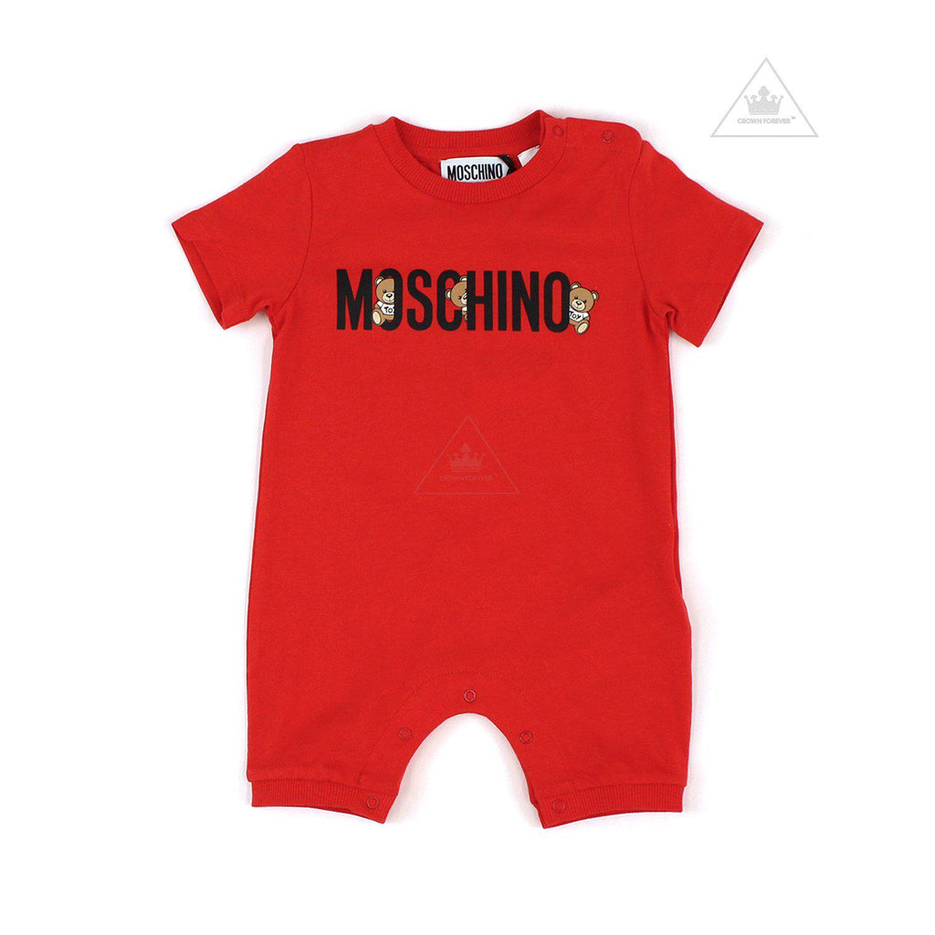 Moschino Baby Romper With Gift Box Red