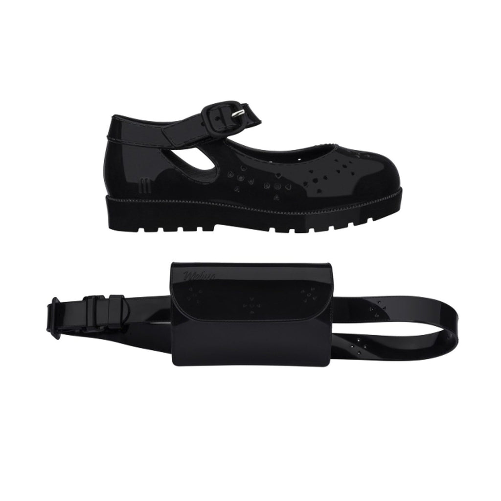 Mini Melissa Mini Mary Jane + Purse Set Black