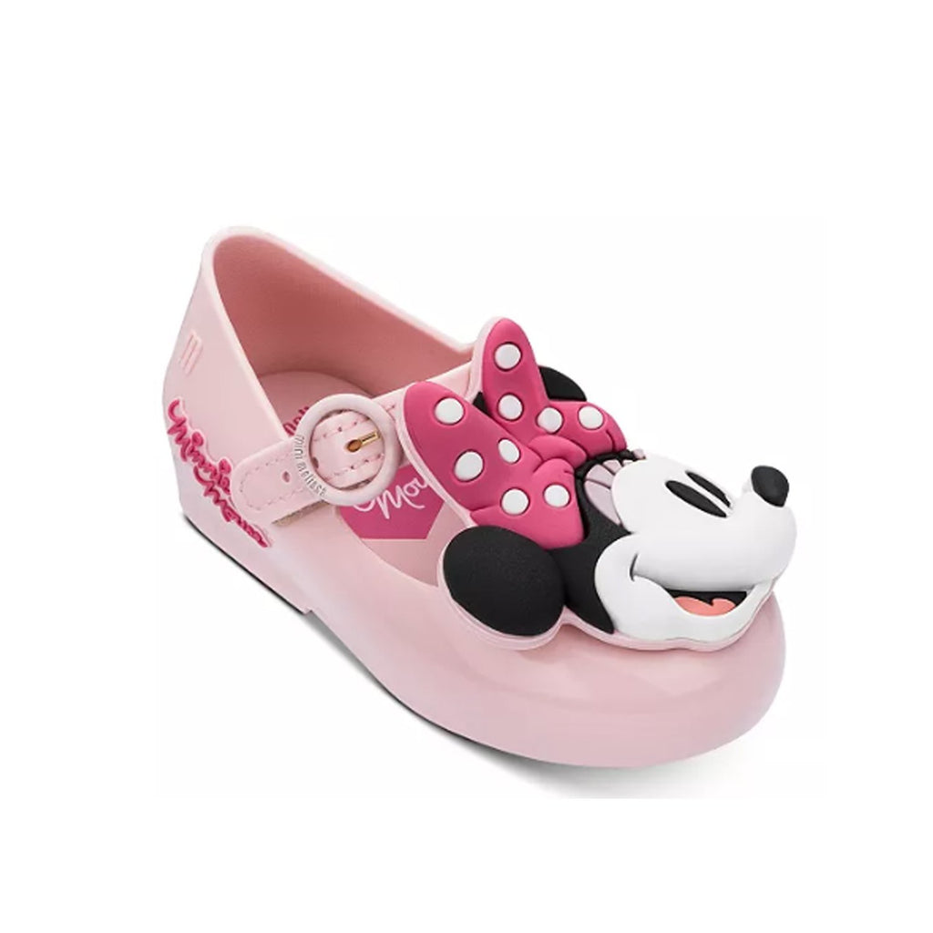 Mini Melissa x Disney Minnie Mouse Mary Jane Flat Pink