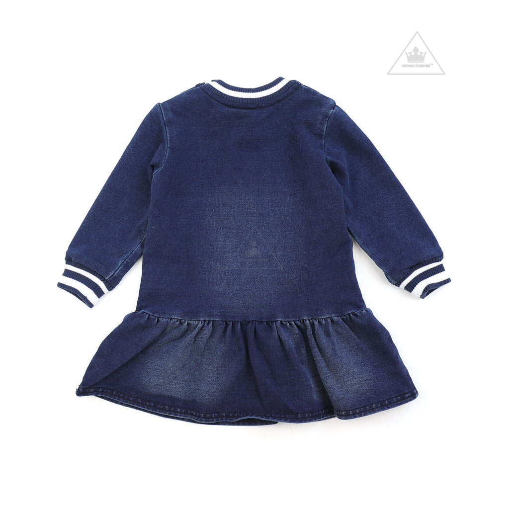 Moschino Baby Girl Denim Dress Navy