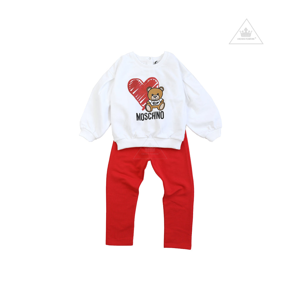Moschino Baby Girls Tracksuit With Heart Toy Bear