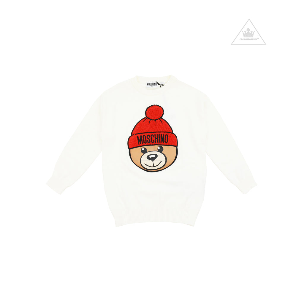 Moschino Kids Knit Sweater With Toy Bear Cloud