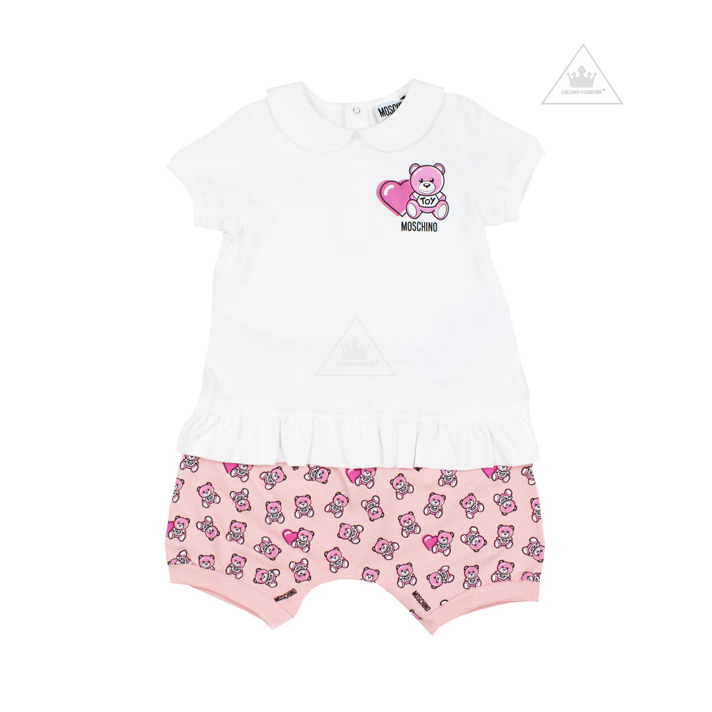 Moschino Baby Girl Teddy Bear T Shirt and Shorts Set