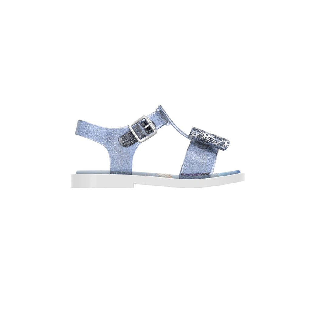 Mini Melissa Frozen 2 Snowflake Bow Sandals White Blue