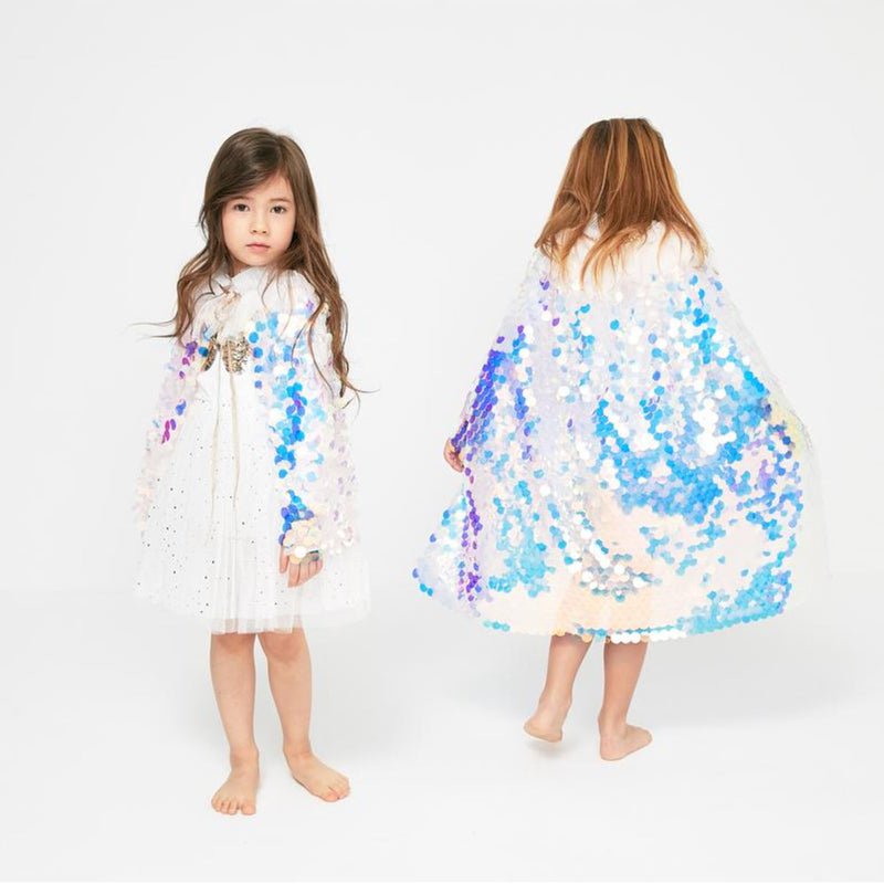 Petite Hailey Long|Short Mermaid Cape