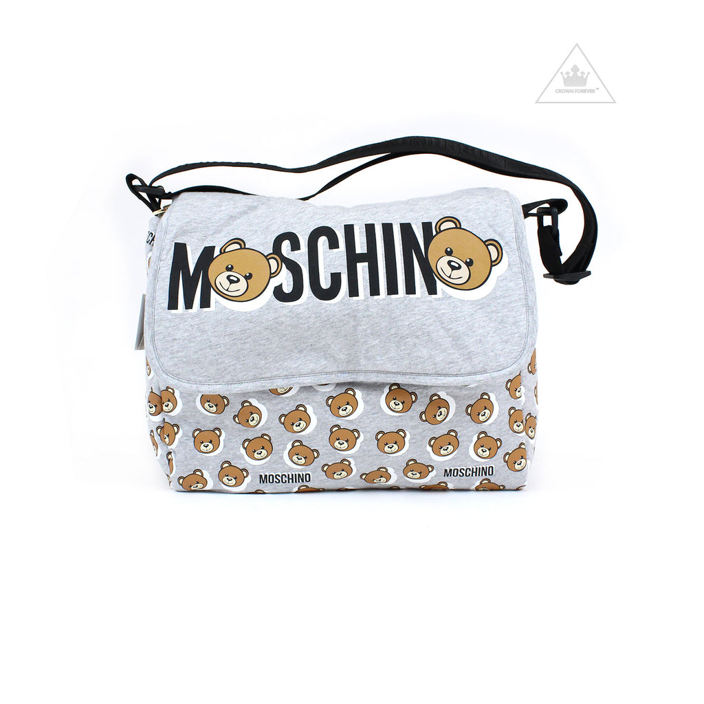 Moschino Baby Changing Bag With Mat Grey