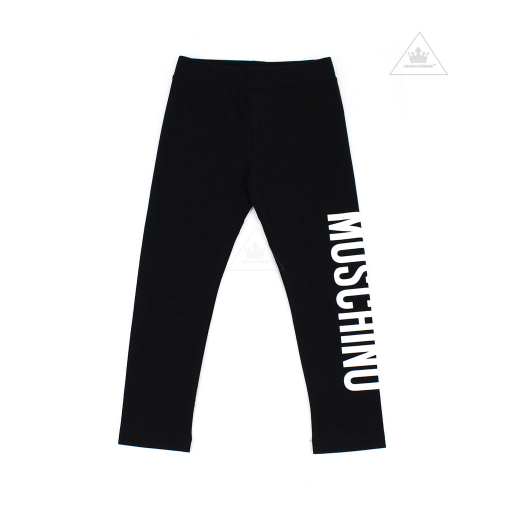Moschino Kids Girls Long Leggings Black