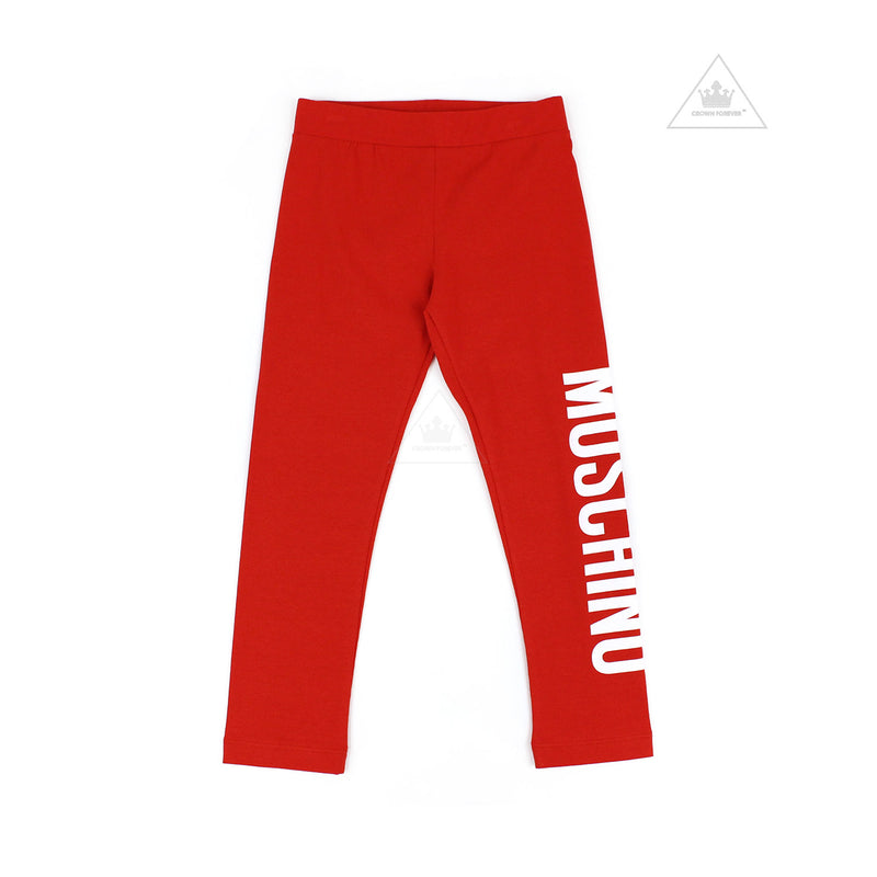 Moschino Kids Girls Long Leggings Red