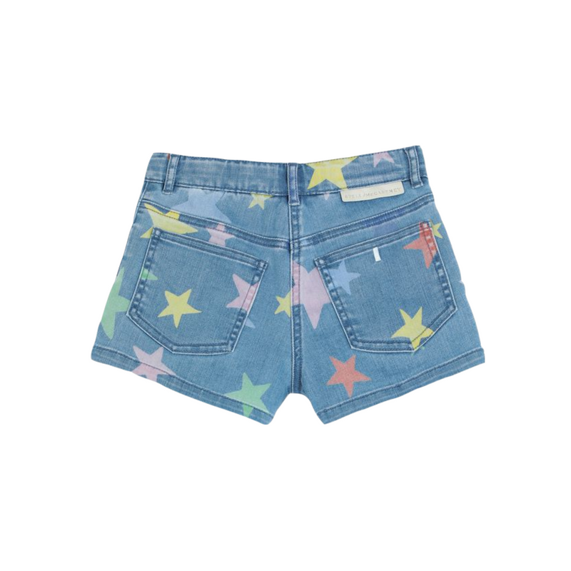 Stella McCartney Kids Girl Multicolor Stars Denim Shorts