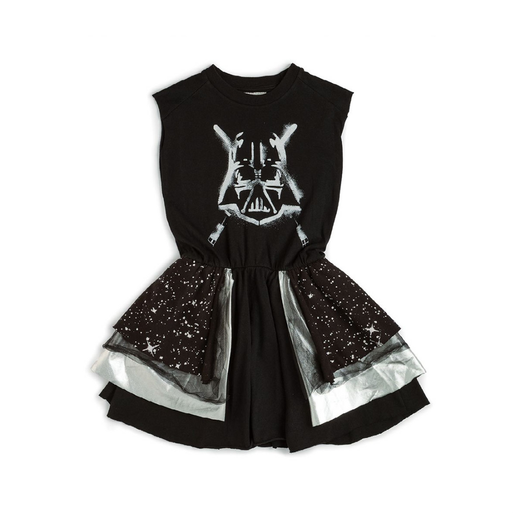 Nununu World Star Wars Darth Vader layered galaxy dress