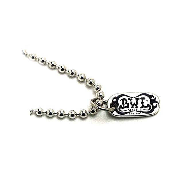 Bill Wall Leather Ball Chain with BWL Tag N832