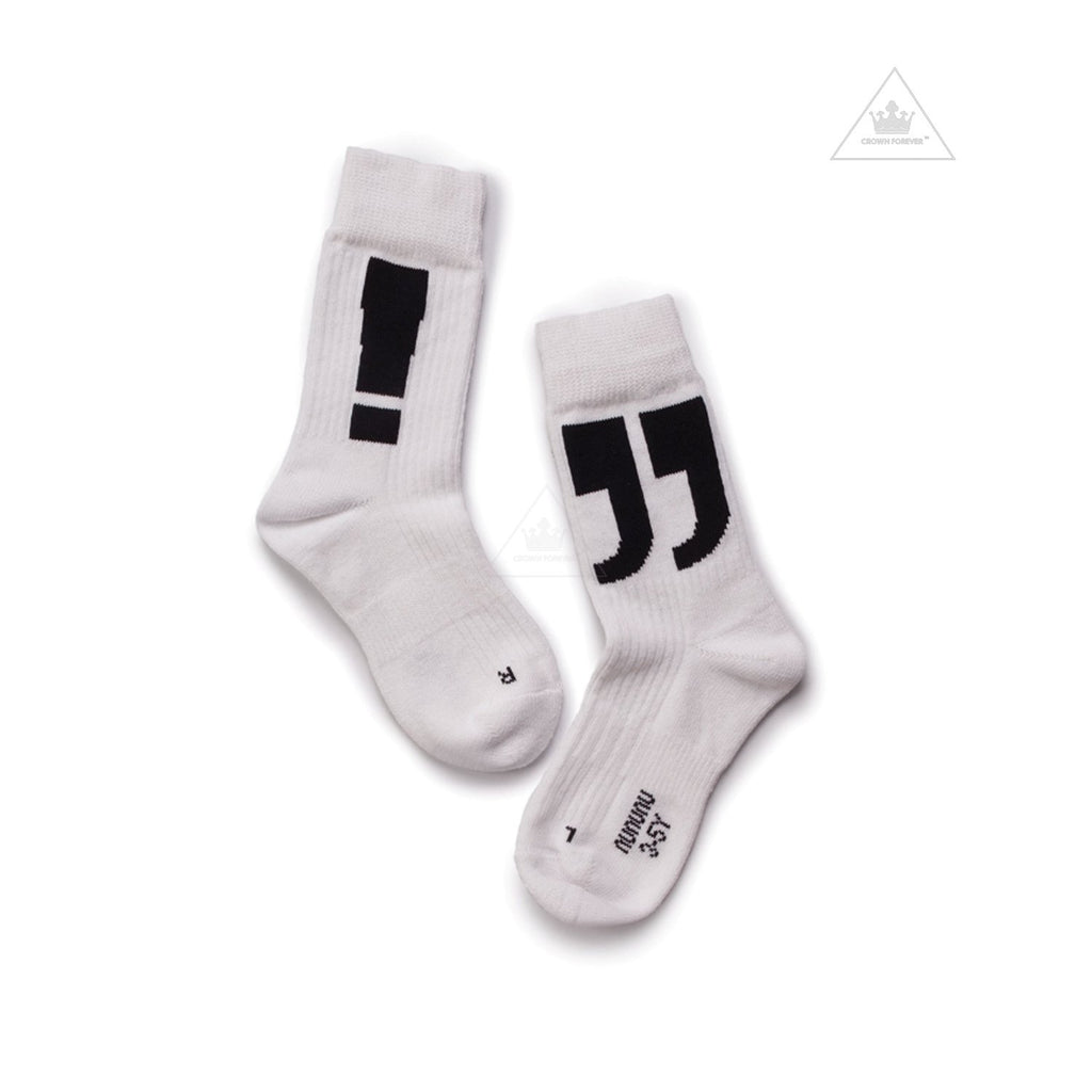Nununu World Punctuation Socks White