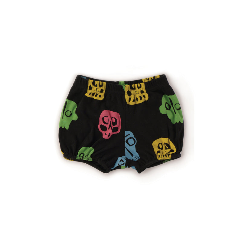 Nununu World Rowdy Masks Yoga Shorts Colorful Black