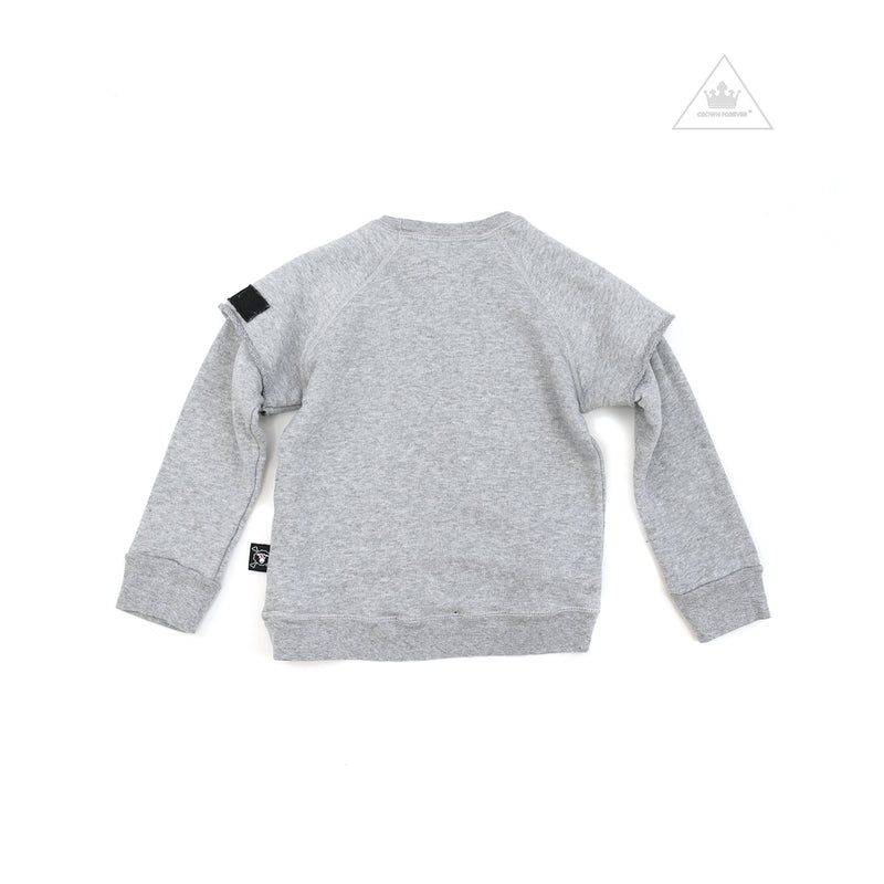 Nununu World Twofer Sweatshirt Heather Grey